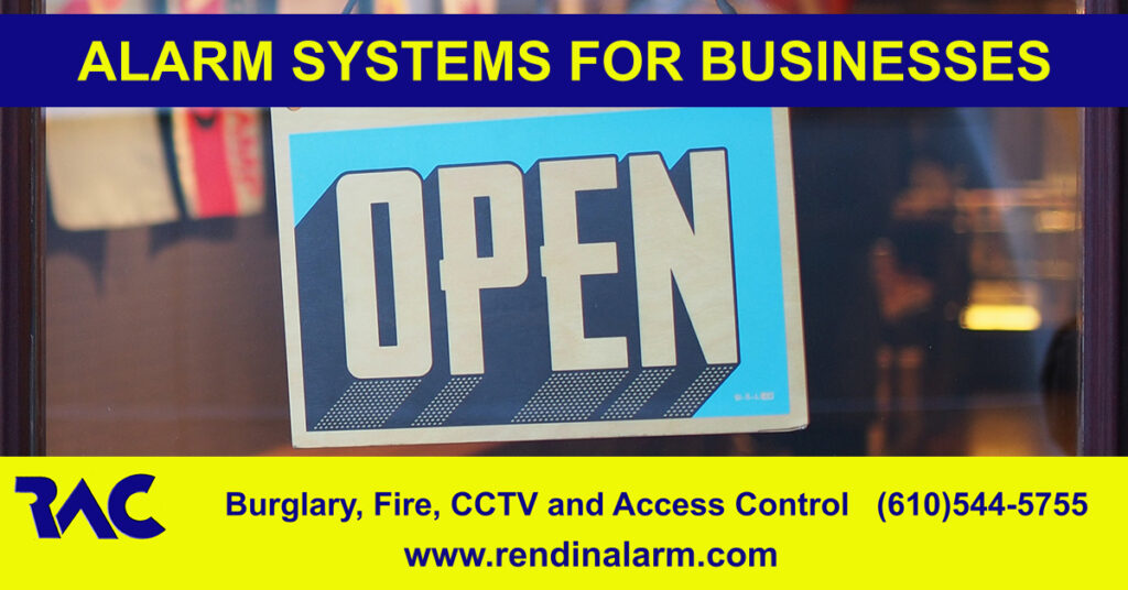 Alarm system for business