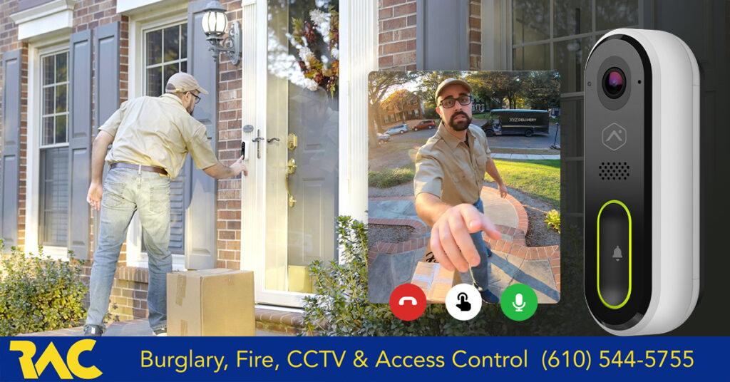 Monitor your deliveries, video doorbell, ring doorbell